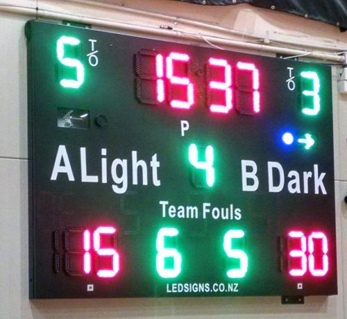 Electronic North Shore Events Centre Scoreboard Basketball