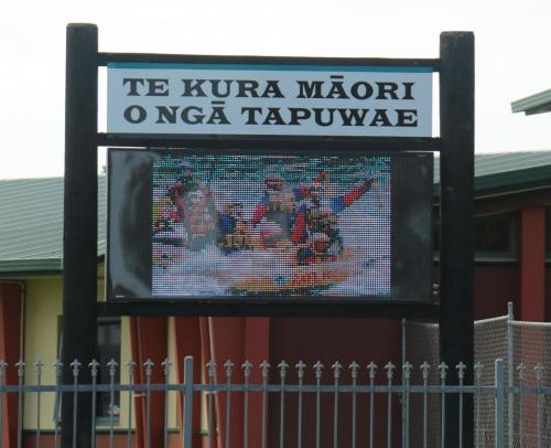Electronic Digital LED Sign Nga Tupuwae