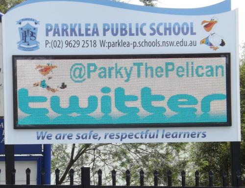 Electronic Digital LED Sign Parklea Public School