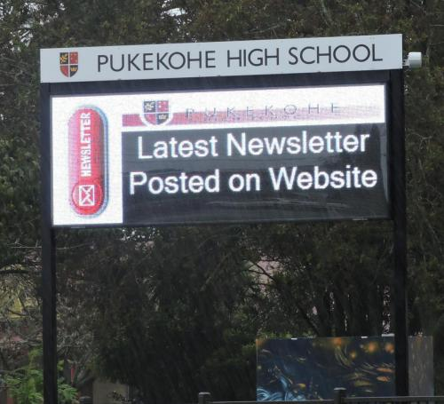 Electronic Digital LED Sign Pukekohe High