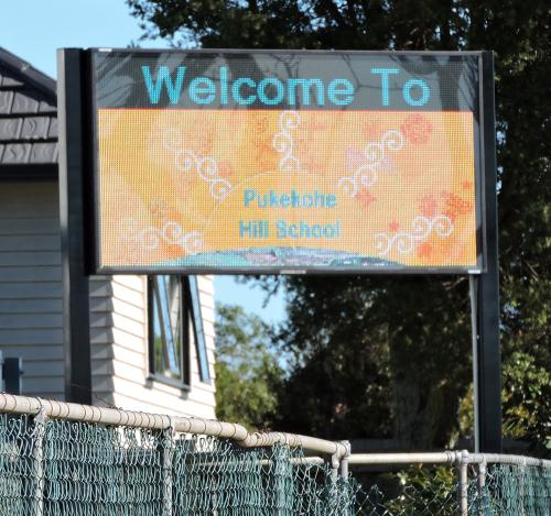 Electronic Digital LED Sign Pukekohe Hill School