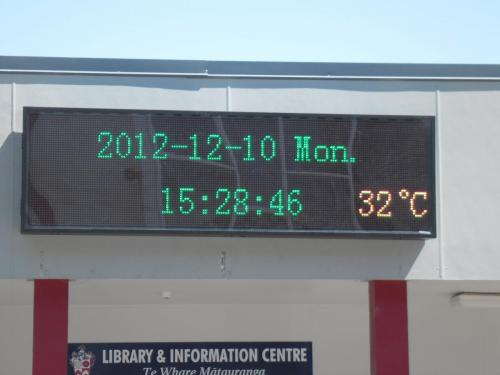 Electronic Digital LED Sign Rosehill College