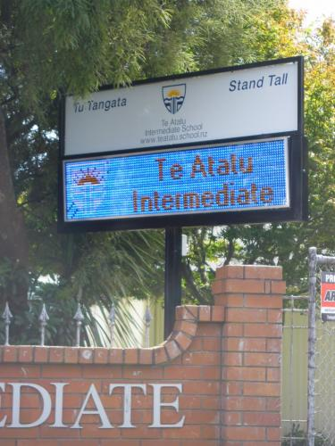 Electronic Digital LED Sign Te Atatu Intermediate