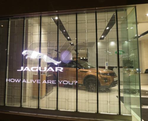 Electronic Digital LED Transparent Window Sign Jaguar