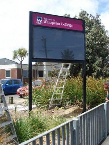 Electronic Digital LED Sign Waiopehu College Levin