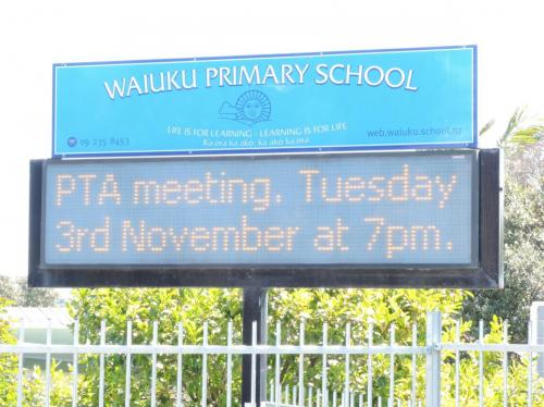 Electronic Digital LED Sign Waiuku Primary