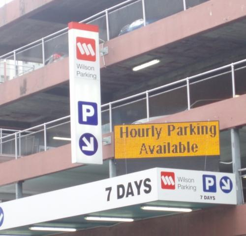 Electronic Digital LED Sign Wilson Carparking