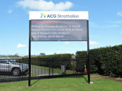 Electronic Digital LED Sign ACG Strathalan