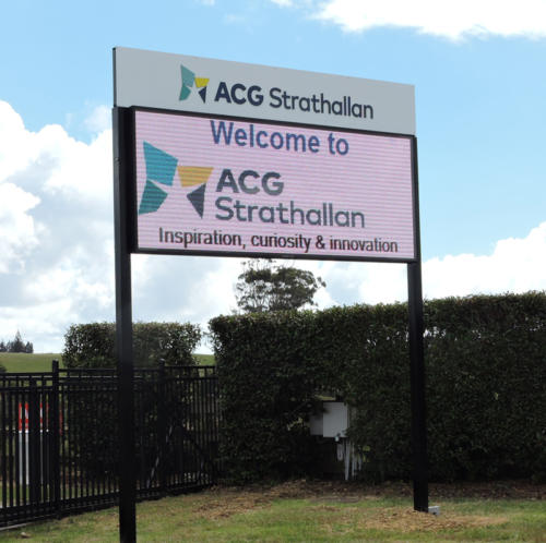 Electronic Digital LED Sign at ACG Strathalan