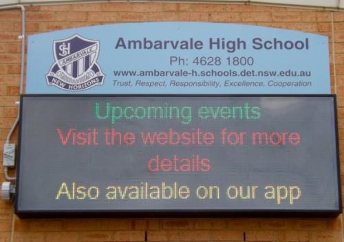 Electronic Digital LED Sign Ambarvale High School