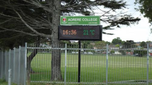 Electronic Digital LED Sign Aorere College Auckland