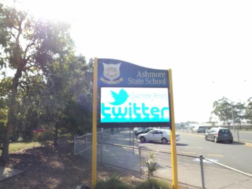 Electronic Digital LED Sign AshmoreState School