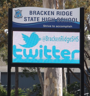Electronic Digital LED Sign at Bracken Ridge State High School