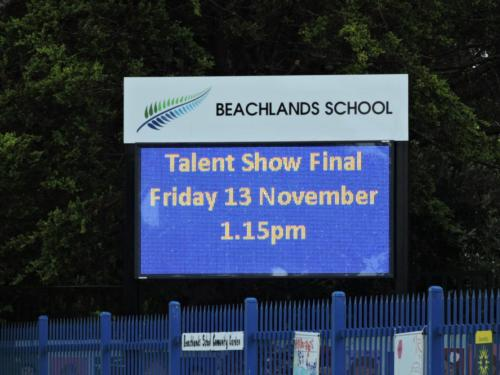 Electronic Digital LED Sign Beachlands School