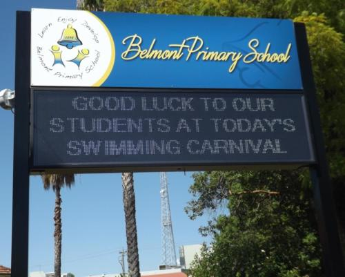 Electronic Digital LED Sign Belmont Primary