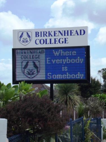 Electronic Digital LED Sign at Birkenhead College