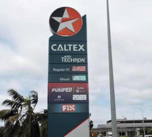 Caltex Fuel Price Tiles Mt Wellington