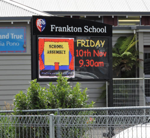 Electronic Digital LED Sign Frankton School