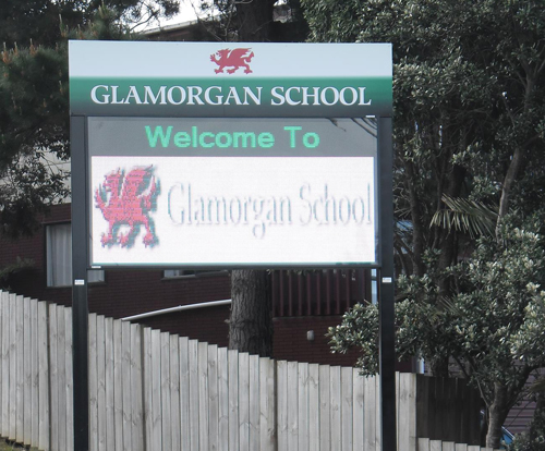 Electronic Digital LED Sign Glamorgan School