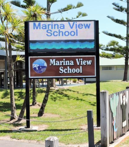 Electronic Digital LED Sign Marina View
