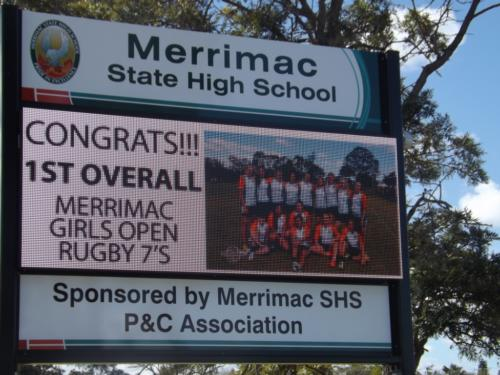 Electronic Digital LED Sign Merrimac State School