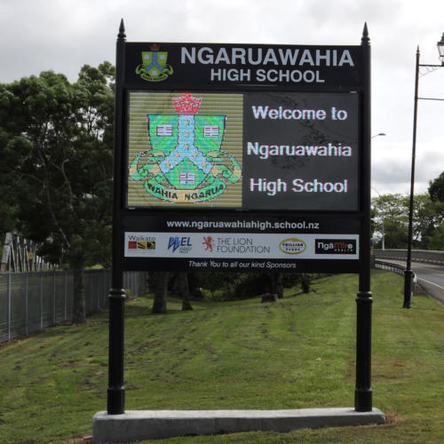 Electronic Digital LED Sign - Ngaruawahia High School