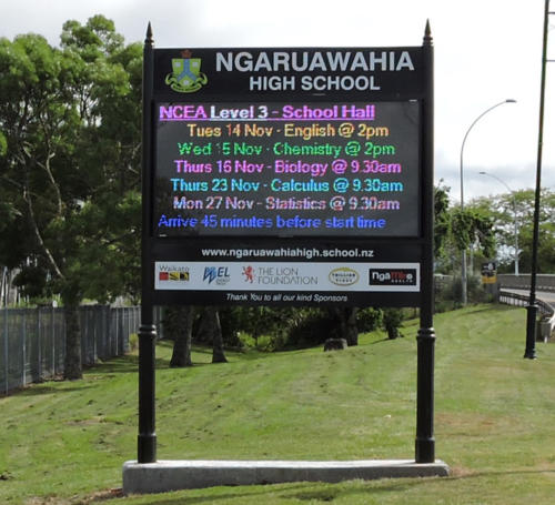 Electronic Digital LED Sign Ngaruawahia High