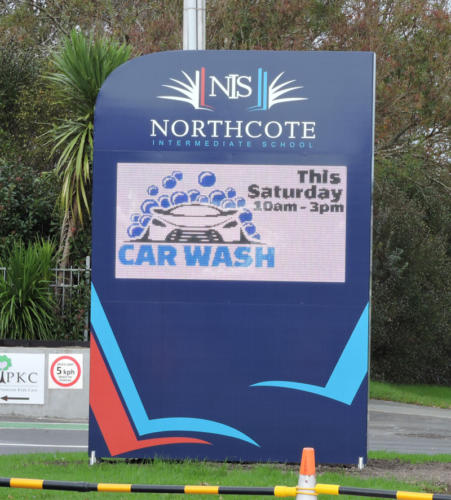 Electronic Digital LED Sign at Northcote Intermediate School