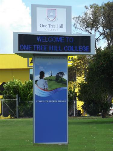 Electronic Digital LED Sign One Tree Hill College