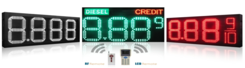 Petrol Price LED Signs Types