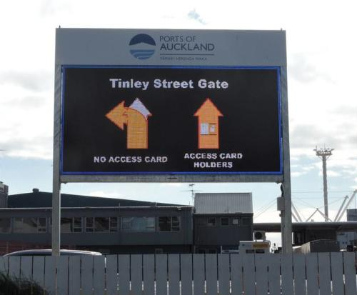 Electronic Digital LED Sign Ports of Auckland