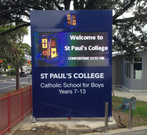 Electronic Digital LED Sign at St Pauls College