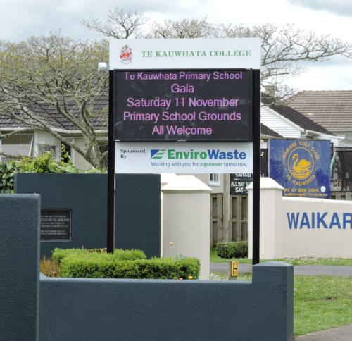 Electronic Digital LED Sign at Te Kauwhata College