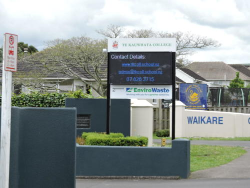Electronic Digital LED Sign Te Kauwhata College