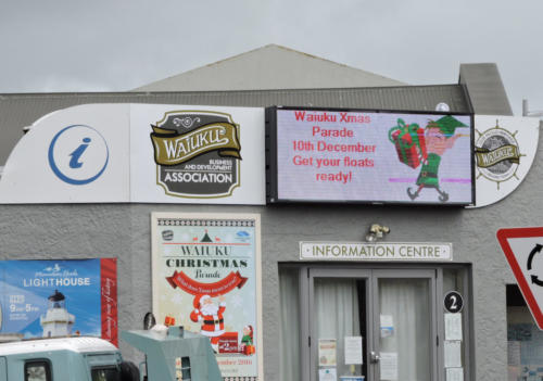 Electronic Digital LED Sign Waiuku Information