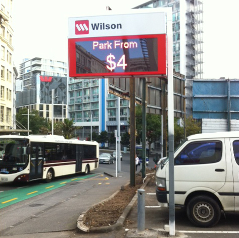Electronic Digital LED Sign Wilson  ANZAC Ave