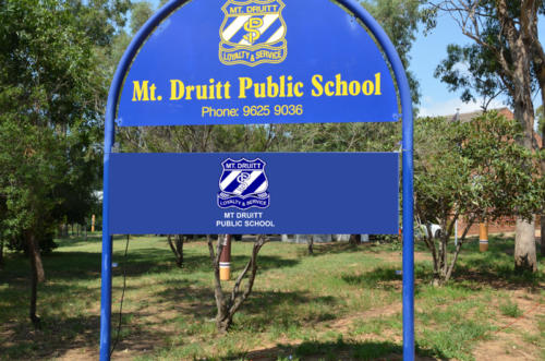 Electronic Digital LED Sign at Mt Druitt Public School