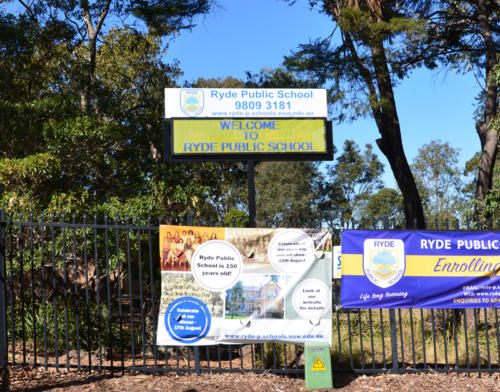 Electronic Digital LED Sign at Rhyde Public School