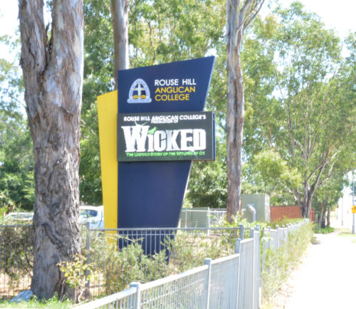 Electronic Digital LED Sign at Rouse Hill Anglican College